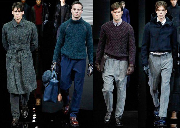 GIORGIO ARMANI FALL WINTER 2014 2015 MENSWEAR MILAN FASHION