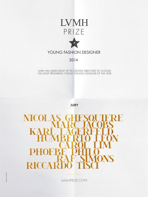 Lvmh Prize Young Fashion Talents 2014 The Most Promising Young Fashion Designer Of The Year From A Shortlist Of 30 Arc Street Journal