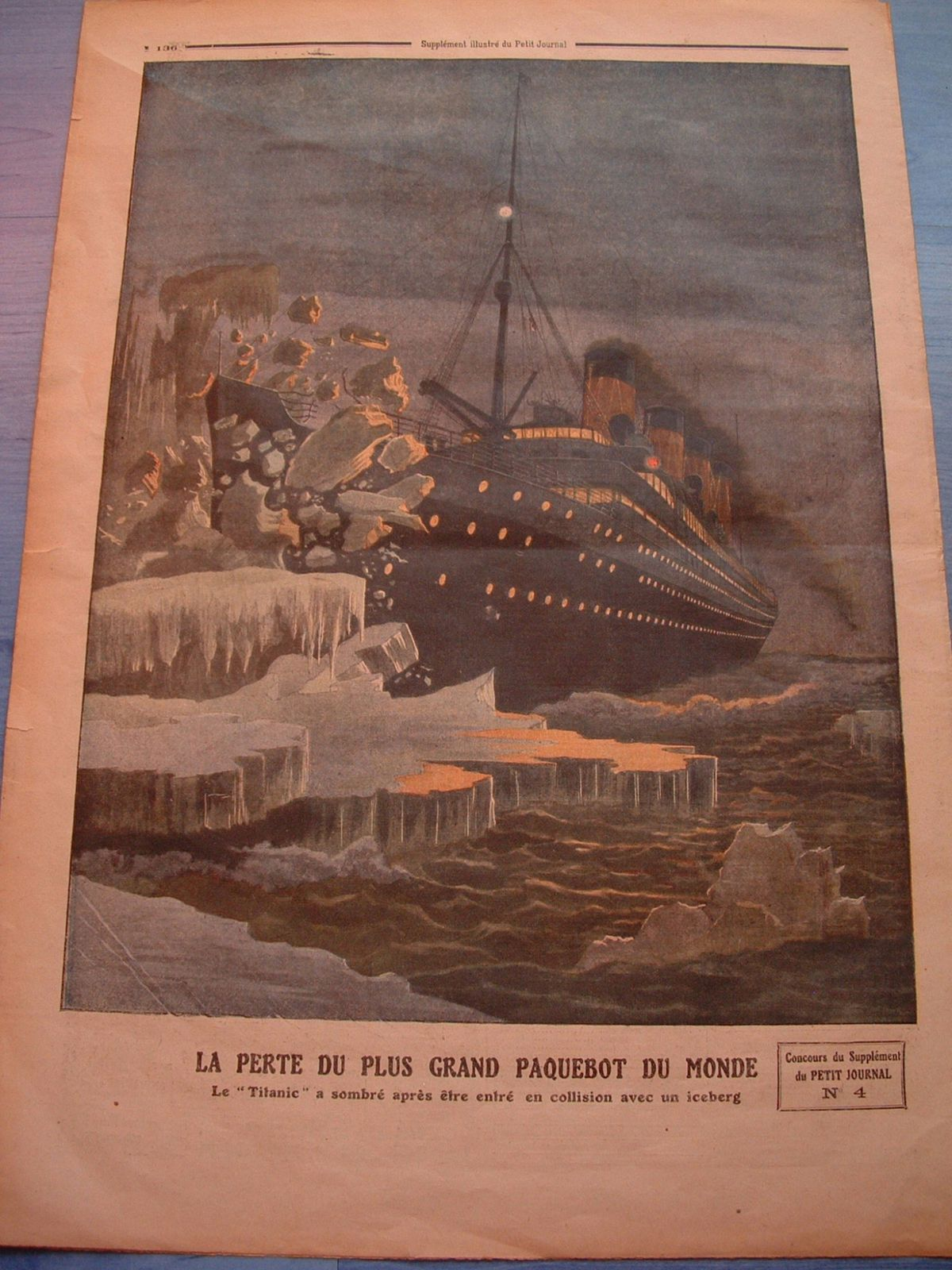 le petit journal du 28 avril 1912 r dition le blog de cyril sur le titanic. Black Bedroom Furniture Sets. Home Design Ideas