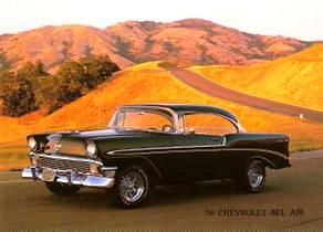 carte-postale-chevrolet-bel-air-1956