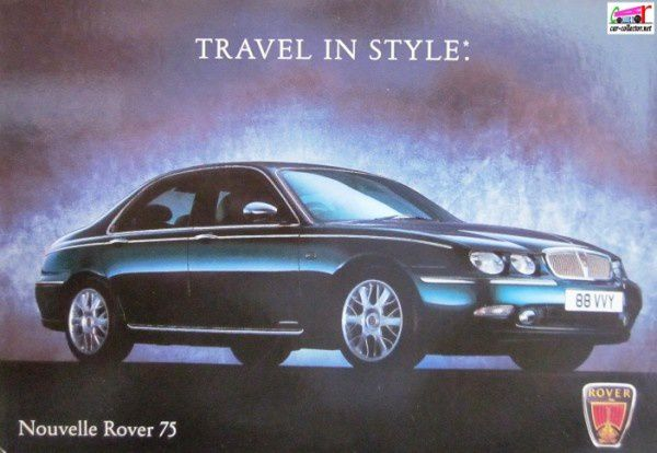carte-postale-nouvelle-rover-75-travel-in style