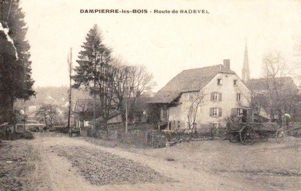 cpa-dampierre-les-bois-route-de-badevel-1907