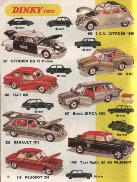 catalogue dinky toys 1970 sept p10 ds police r16 204 404 ta
