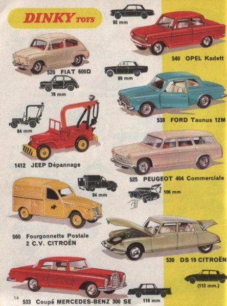 catalogue dinky toys 1970 sept p14 jeep 2cv 404 break taunu