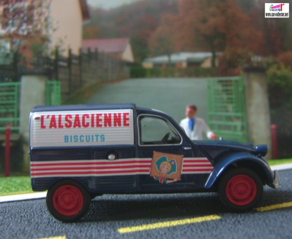 CITROEN 2CV COMMERCIALE BISCUITS L' ALSACIENNE NOREV 1/43