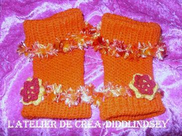 des mitaines fantaisie au tricotin pour mon amie les lutins oranges le blog de diddlindsey. Black Bedroom Furniture Sets. Home Design Ideas