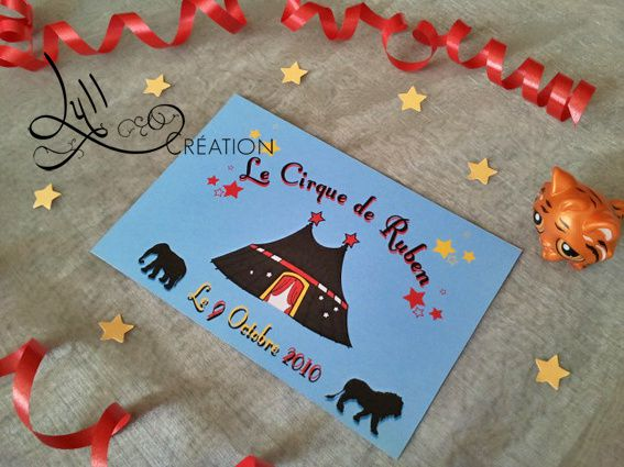 th me cirque invitation anniversaire cirque lyllcr ation graphisme et d coration. Black Bedroom Furniture Sets. Home Design Ideas