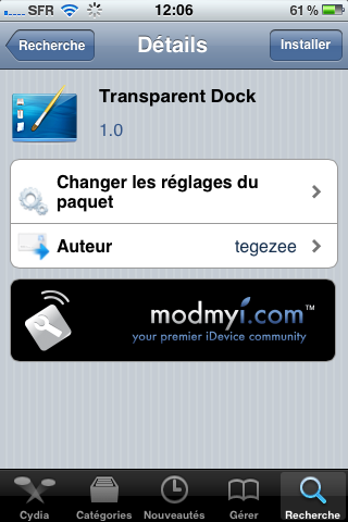 transparent dock