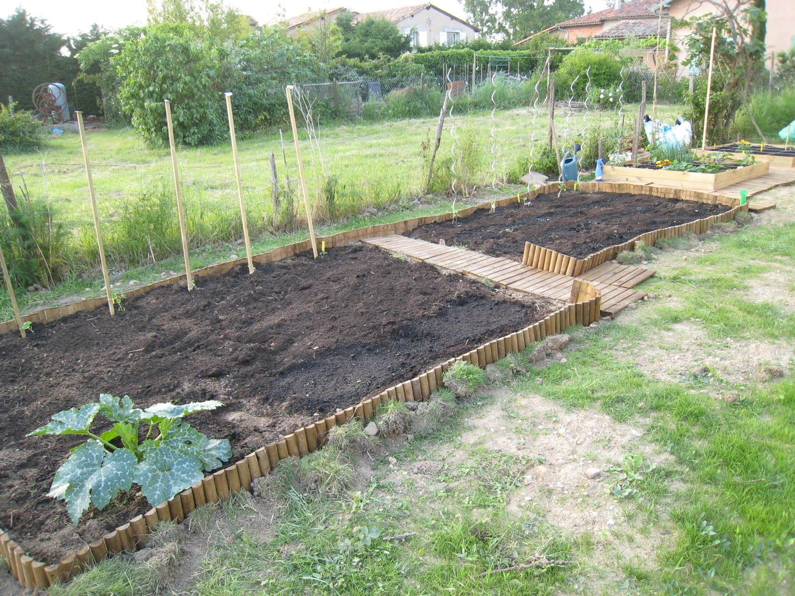 Am nagement du jardin potager le blog de nathalie for Amenagement jardin 100m2