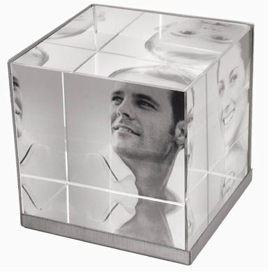 cube verre homme