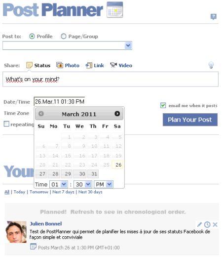 PostPlanner screenshot