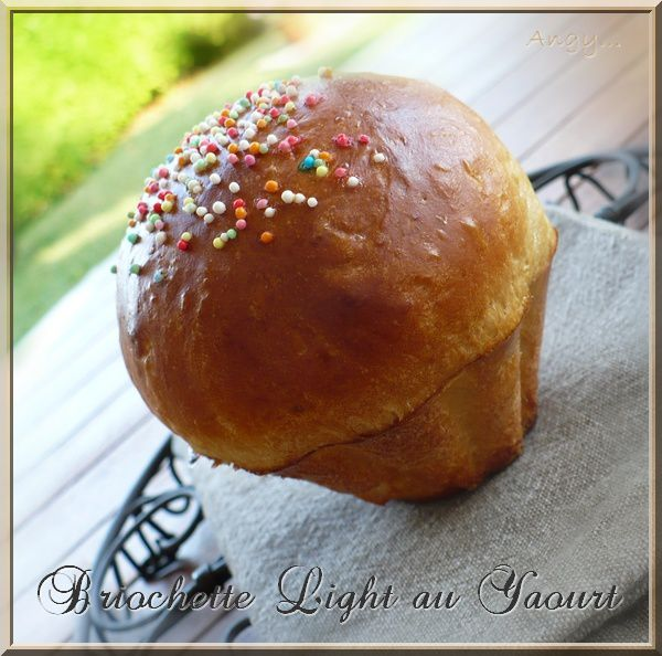 Brioche light au yaourt