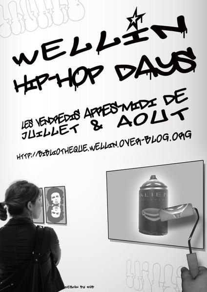 wellin hip-hop days designed by kgb