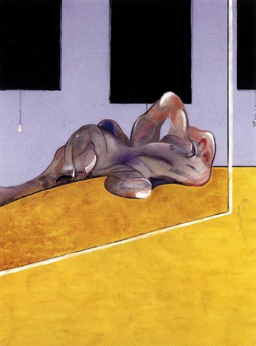 Francis Bacon, Lying Figure in a Mirror, 1971