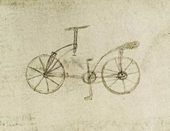 Léonard de Vinci, Bicyclette, Codex Atlanticus, Biblioteca
