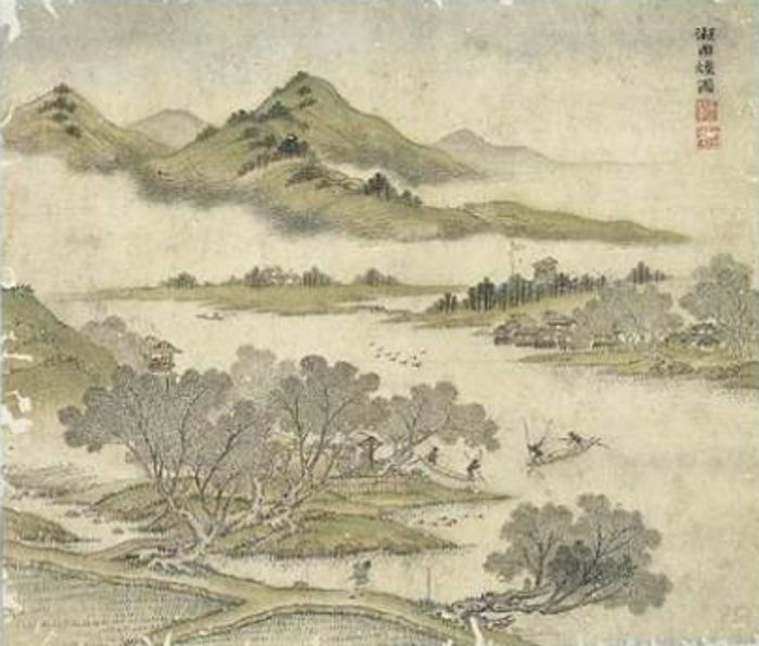 Wang Hui , Champs irrigués en bordure de lac 700