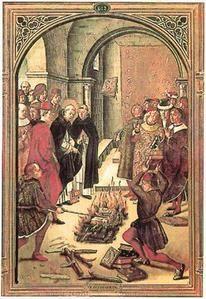 """1242 : Louis IX """"boycott"""" le Talmud à Paris, en place de Grève."""