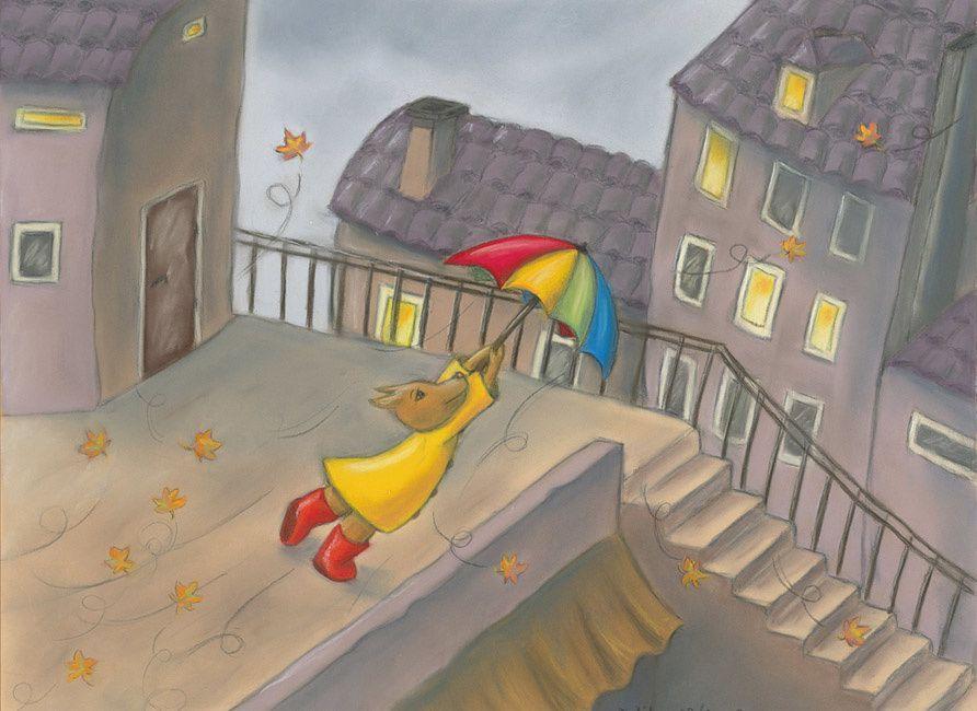 tableau enfant petit loup sous le vent mines gribouilles illustrations et cr ations. Black Bedroom Furniture Sets. Home Design Ideas