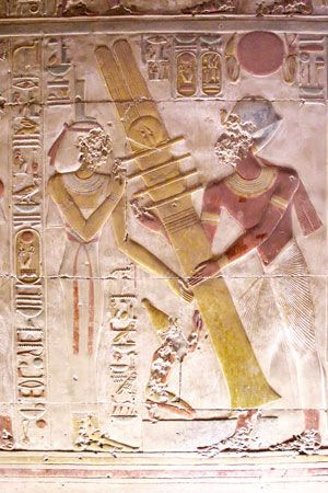 Erection du pilier Djed (Abydos)