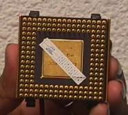 Processeur vu de dessus