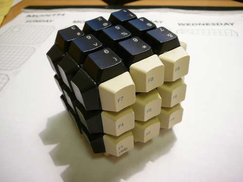 keyboard-keys-rubiks-cube