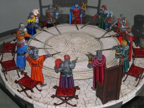La Table Ronde Collection Fantastique Peinte Par M Fernand Dehaene Figurines De Ma