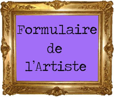 Inscription artiste