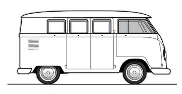 free combi volkswagen coloring pages