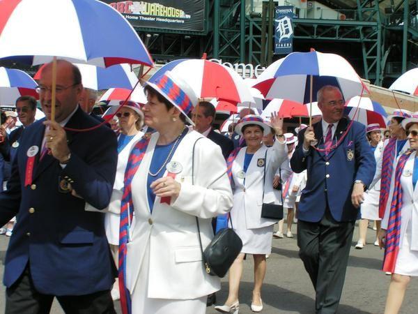 Congrès du Lions Club International de DETROIT (Michigan) USA en juillet 2004.Marcel CACAUD accompagné de son épouse Andrée y participait.