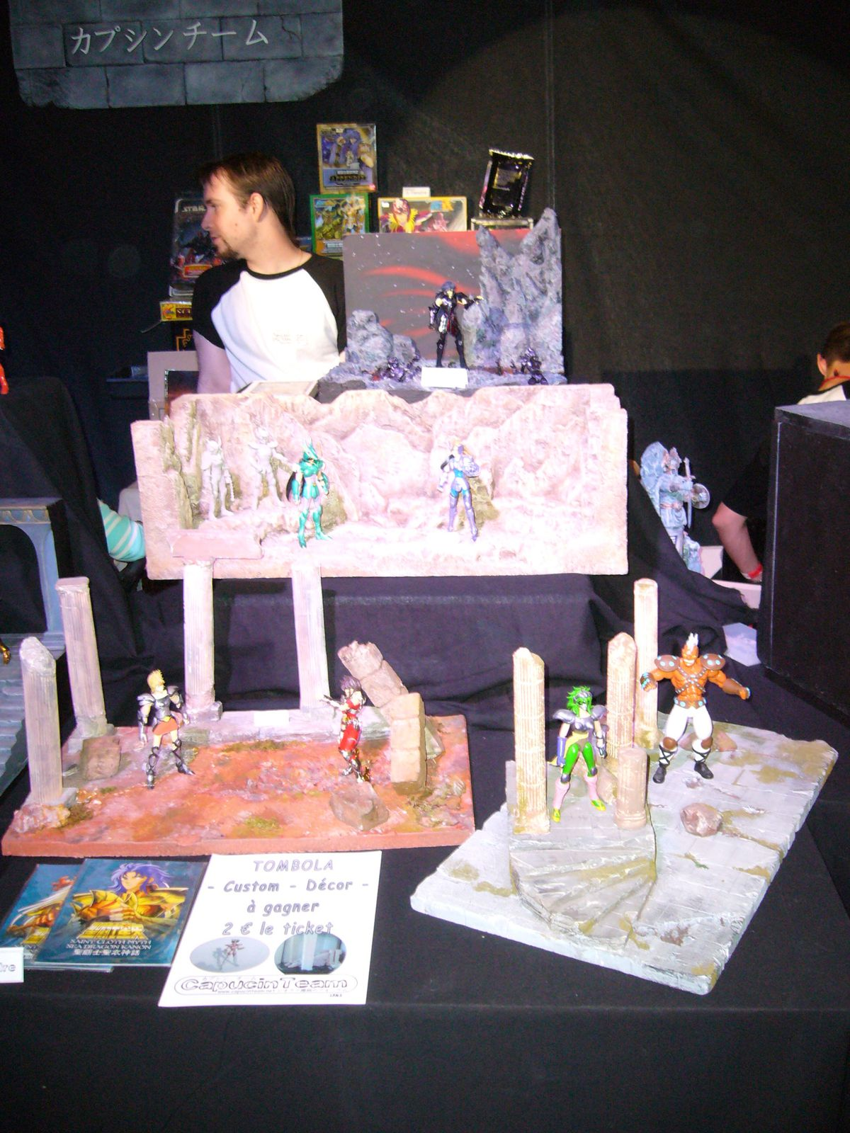 japan expo 2009 la suite cr 233 ation de d 233 cors seiya myth cloth chevaliers de la table