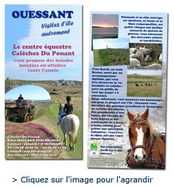 Centre équestre Calèches du Ponant, sur l'ile d'Ouessant