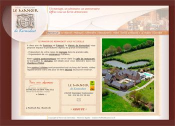 site internet du Manoir de Kermodest