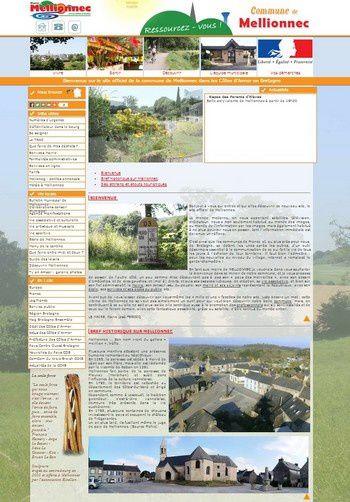 Site internet commune de Mellionnec