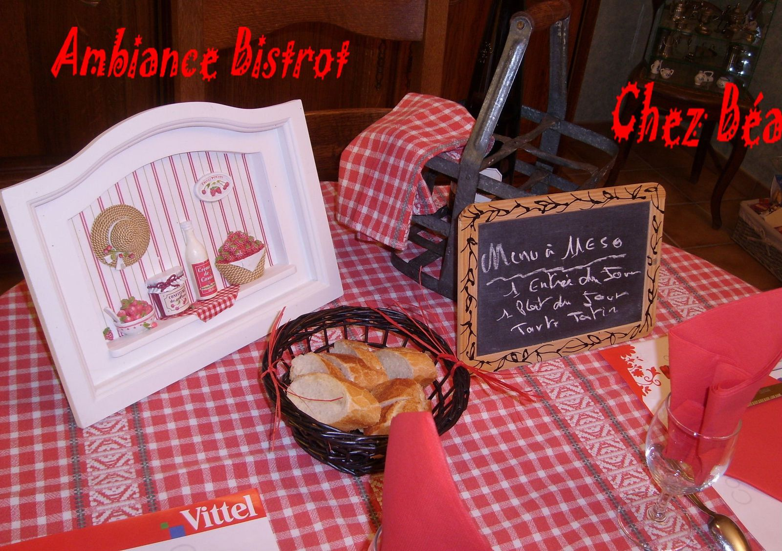 Table ambiance bistrot deco de tables plats - Ambiance bistrot ...