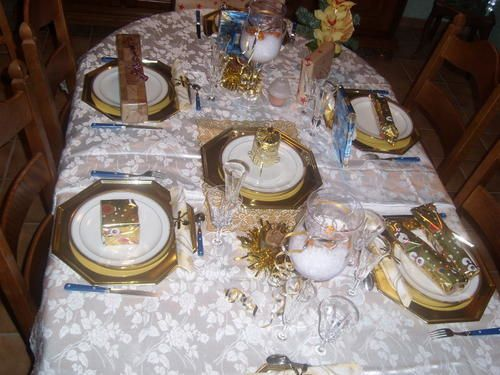 Table de no l blanche et or 2006 deco de tables plats d co de maison - Table de noel blanche ...