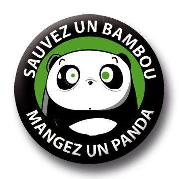 Badge Panda Bambou