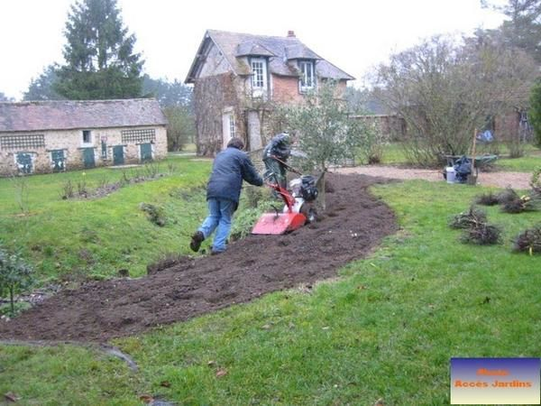 Mise en place massif de roses cocherel jardin paysagiste for Conception jardin 78