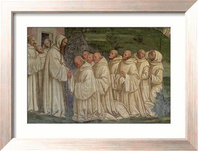 Benedictine Monks, from the Life of St. Benedict, estampe,