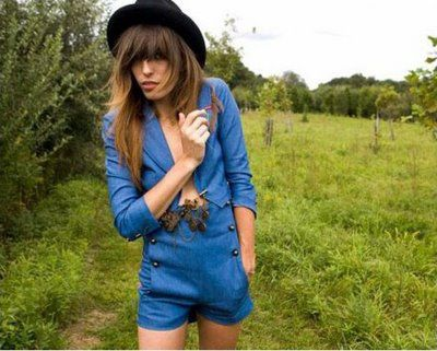 Lou Doillon High Rise Shorts[1]