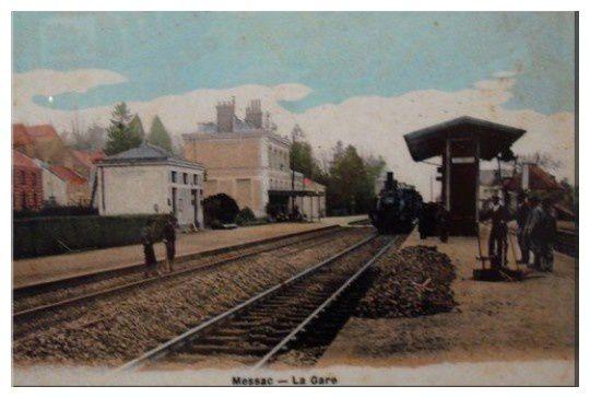 Messac Gare en 1906