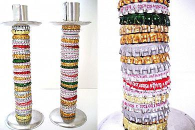 bottlecapcandlesticks