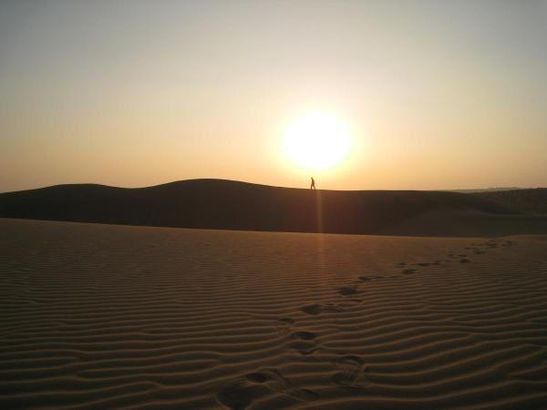 Coucher de soleil sur les dunes du Thar
