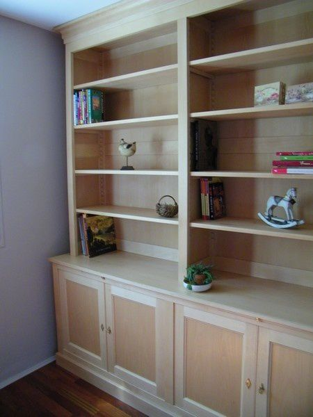 bibliotheque en h tre naturel pour l habillage d un mur atelier de l 39 b niste c cognard eure. Black Bedroom Furniture Sets. Home Design Ideas