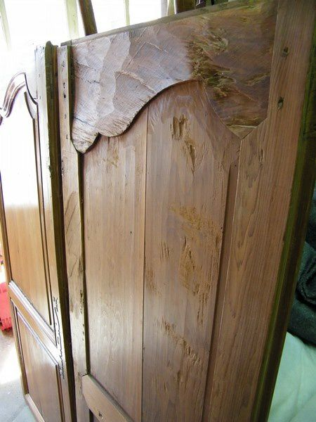 apres restauration porte armoire Louis 15