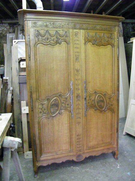 armoire normande dat e de 1856 atelier de l 39 b niste c. Black Bedroom Furniture Sets. Home Design Ideas