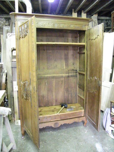 armoire normande dat e de 1856 atelier de l 39 b niste c cognard eure restaurateur fabricant. Black Bedroom Furniture Sets. Home Design Ideas