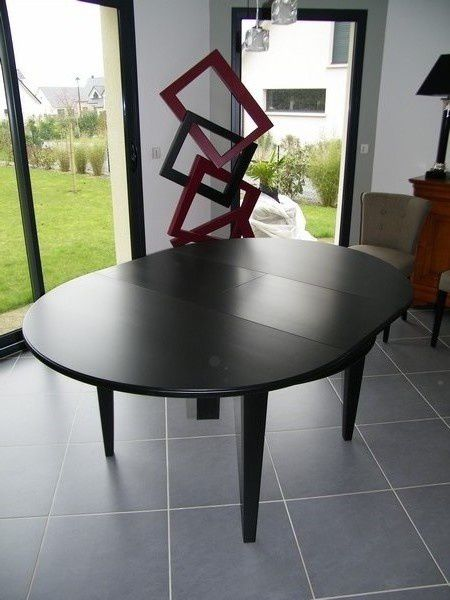 Transformation table merisier déco