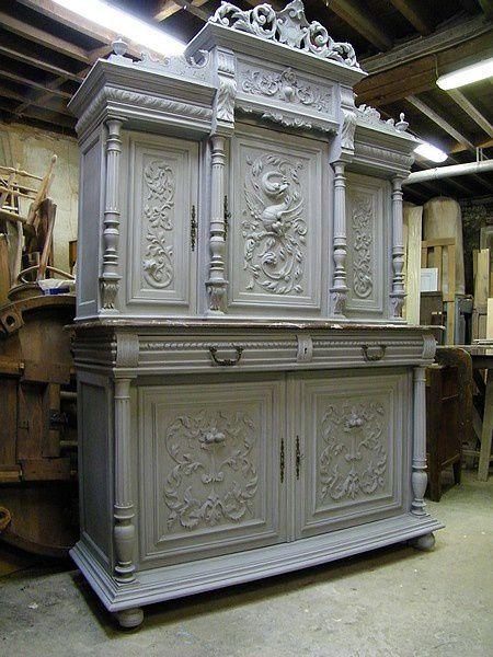 Album meuble peint atelier de l 39 b niste c cognard for Meuble henri 2