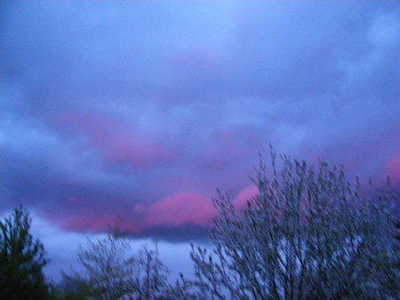 nuage soleil couchant