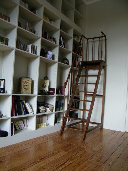 escabeau escalier de bibliotheque atelier de l 39 b niste. Black Bedroom Furniture Sets. Home Design Ideas